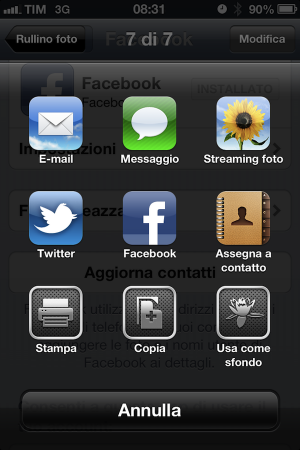 iOS 6 Facebook